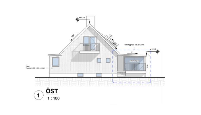 Bygglovsritningar Tillbyggnad-Garage - Malmö