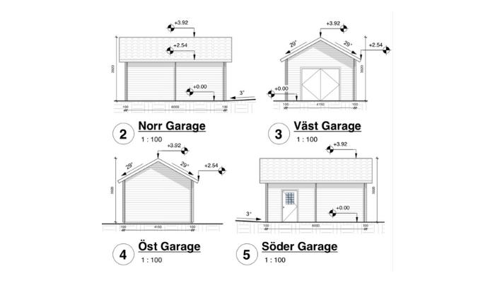 Bygglovsritningar Garage Tjörn