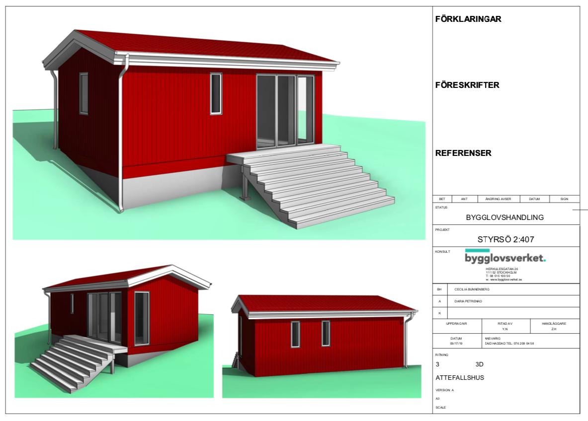 Bygglovsritningar Attefallshus - Göteborg